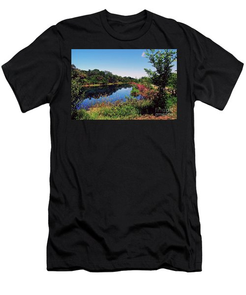 Men's T-Shirt (Athletic Fit) featuring the photograph Hidden Lake by Gary Wonning