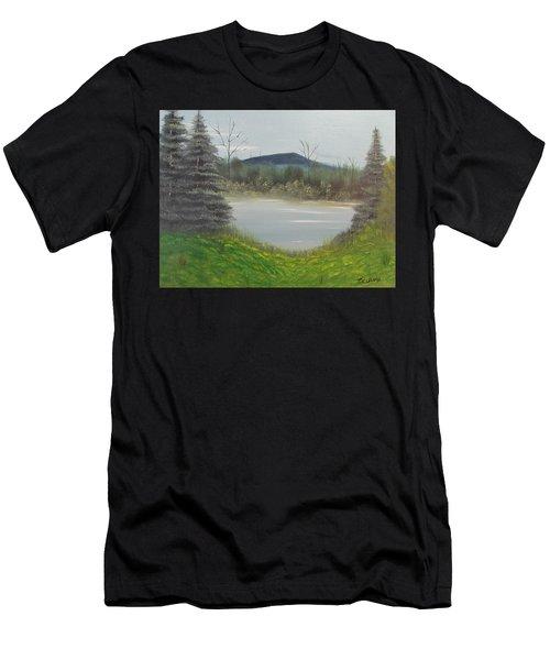 Hidden Pond  Men's T-Shirt (Athletic Fit)