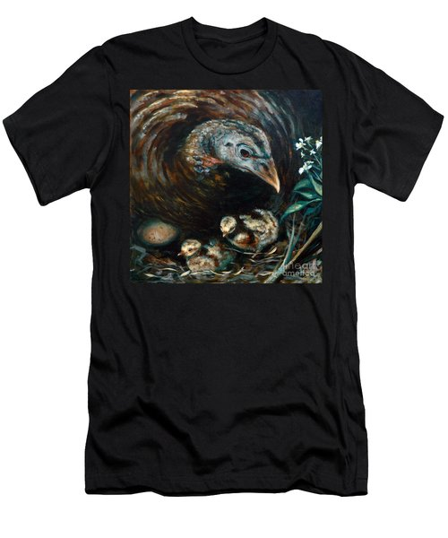 Men's T-Shirt (Slim Fit) featuring the painting Hidden Treasures by Suzanne McKee