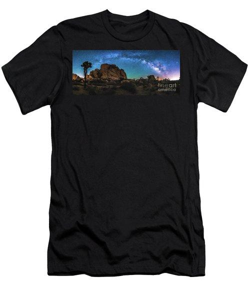 Hidden Valley Milky Way Panorama Men's T-Shirt (Athletic Fit)