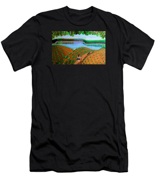 Hidden Water From Above Men's T-Shirt (Athletic Fit)