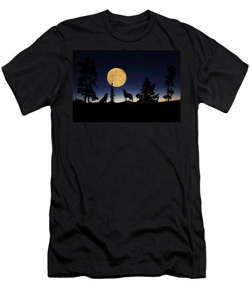 Hidden Wolves Men's T-Shirt (Athletic Fit)