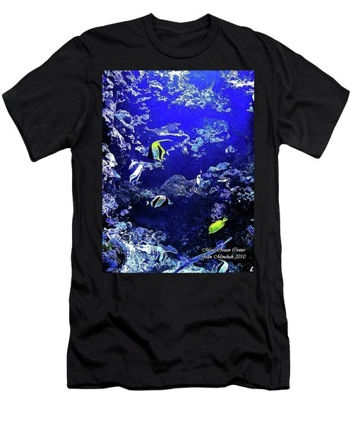 Hiding Fish Men's T-Shirt (Athletic Fit)