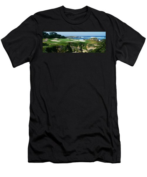 High Angle View Of A Golf Course Men's T-Shirt (Athletic Fit)