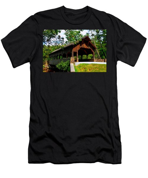 High Falls Covered Bridge Men's T-Shirt (Athletic Fit)