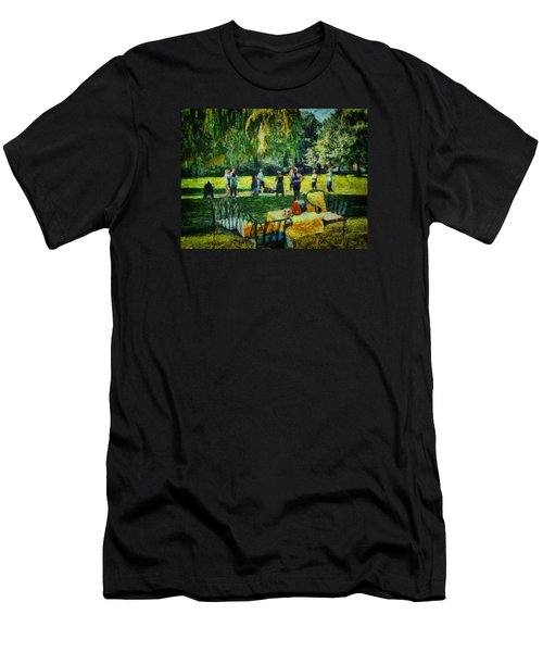 High Tea Tai Chi Men's T-Shirt (Athletic Fit)