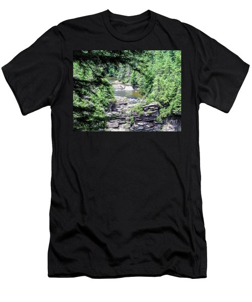 High View Of The Falls Men's T-Shirt (Athletic Fit)