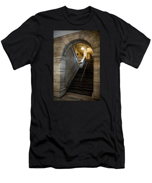 Higher Knowledge Men's T-Shirt (Slim Fit) by Allen Carroll