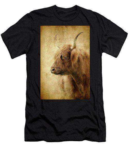 Highland Bull Paint Men's T-Shirt (Athletic Fit)
