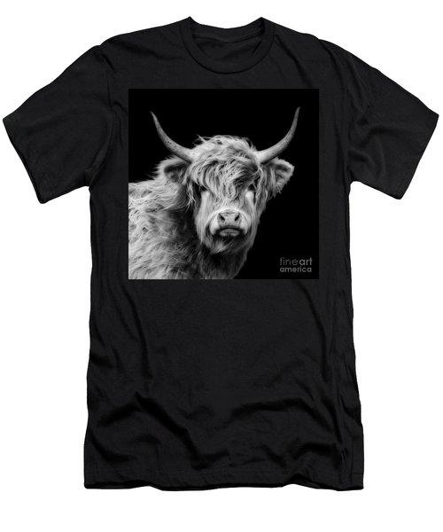 Highland Cow Portrait Men's T-Shirt (Athletic Fit)