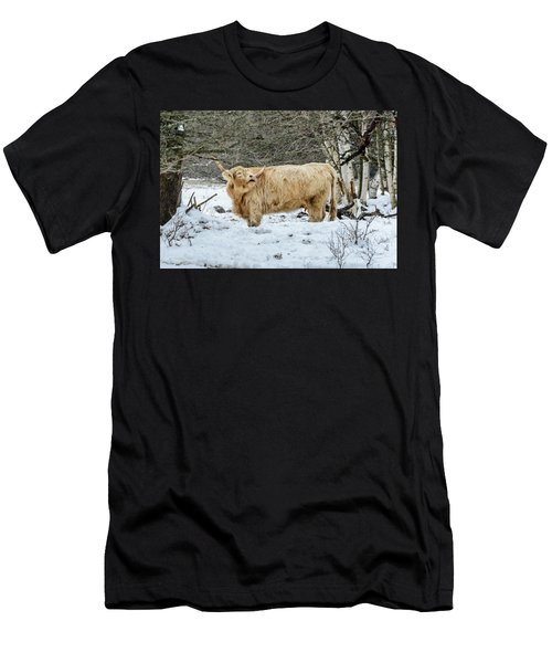 Highlander In Winter Men's T-Shirt (Athletic Fit)