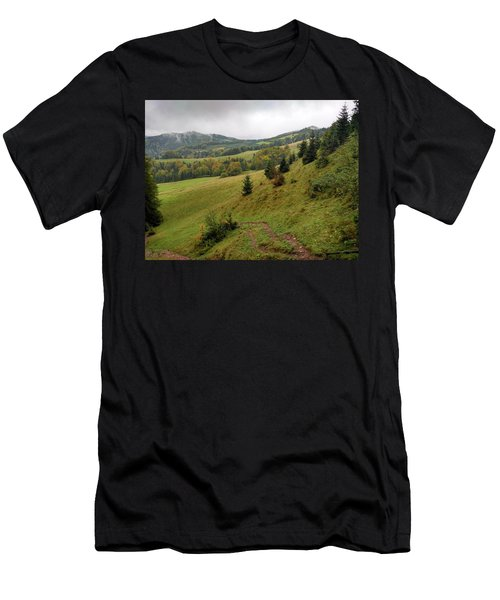 Highlands Landscape In Pieniny Men's T-Shirt (Athletic Fit)