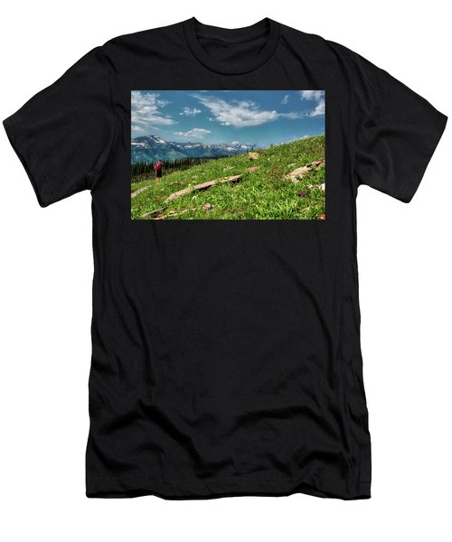 Highline Trail Adventure Men's T-Shirt (Athletic Fit)