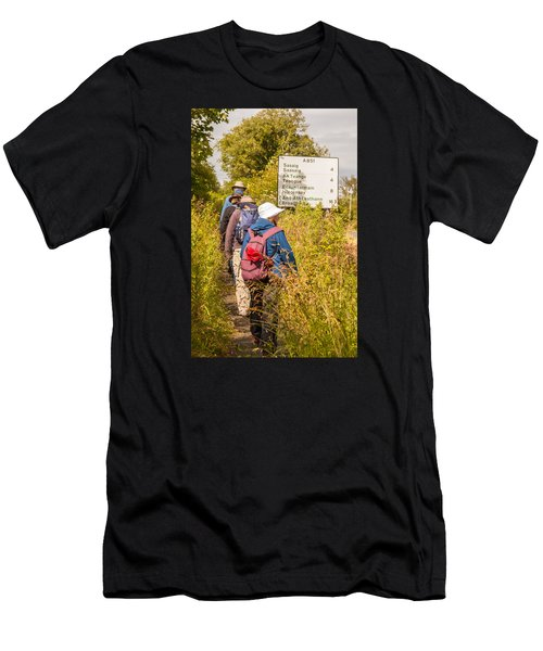 Hiking In The Highlands Men's T-Shirt (Athletic Fit)