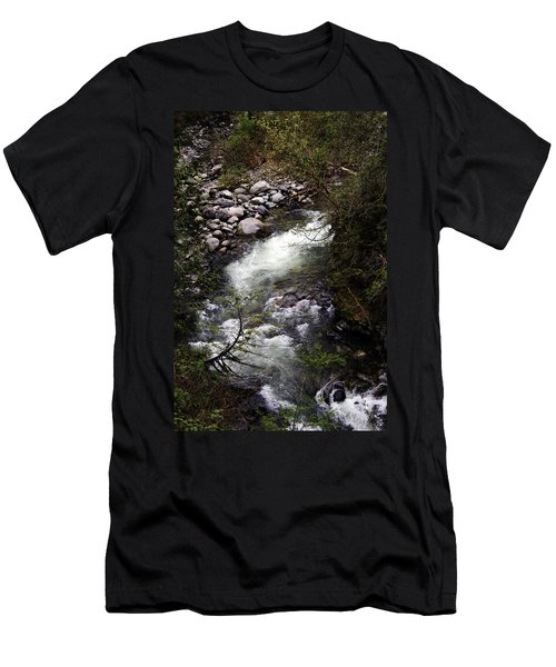Hiking Wallace Falls#1 Men's T-Shirt (Athletic Fit)