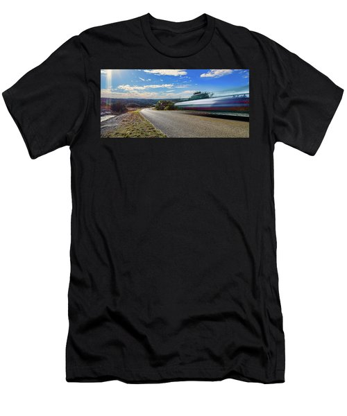 Hill Country Back Road Long Exposure Men's T-Shirt (Athletic Fit)