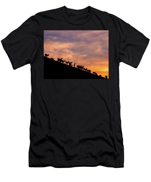 Men's T-Shirt (Athletic Fit) featuring the photograph Hillside Elk by Darren White