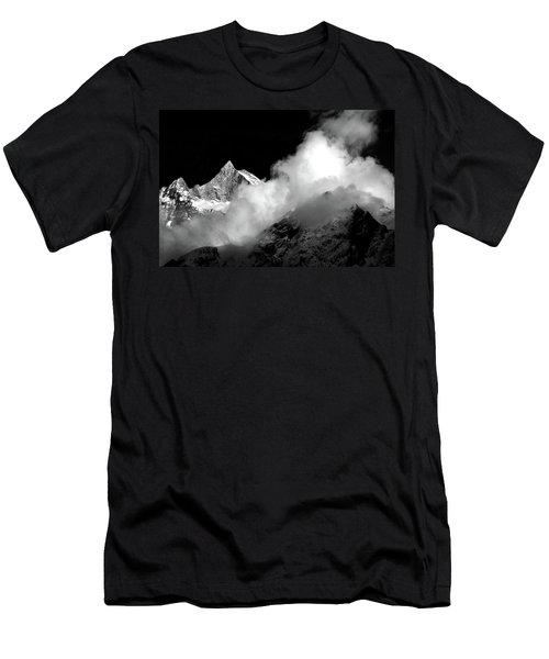 Men's T-Shirt (Athletic Fit) featuring the photograph Himalayan Mountain Peak by Aidan Moran