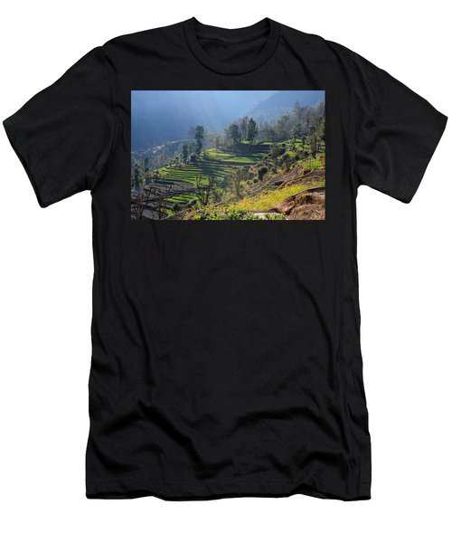 Himalayan Stepped Fields - Nepal Men's T-Shirt (Athletic Fit)