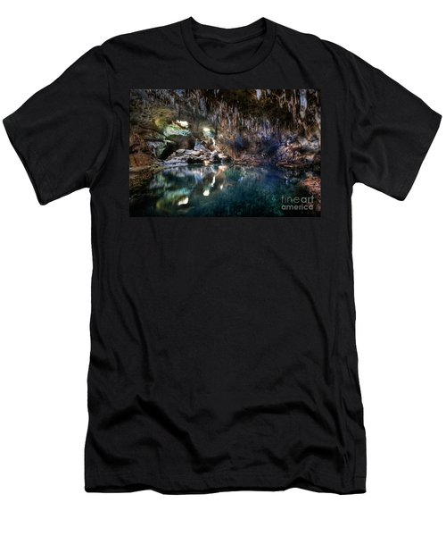 Men's T-Shirt (Slim Fit) featuring the photograph Hinagdanan Cave by Yhun Suarez