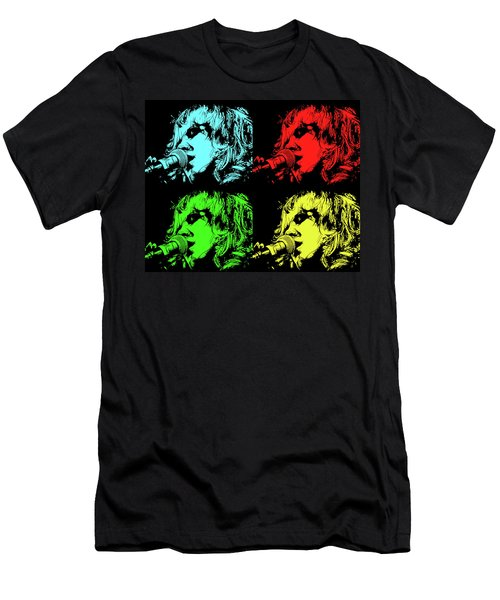 Hippie Memories Pop Art Men's T-Shirt (Athletic Fit)