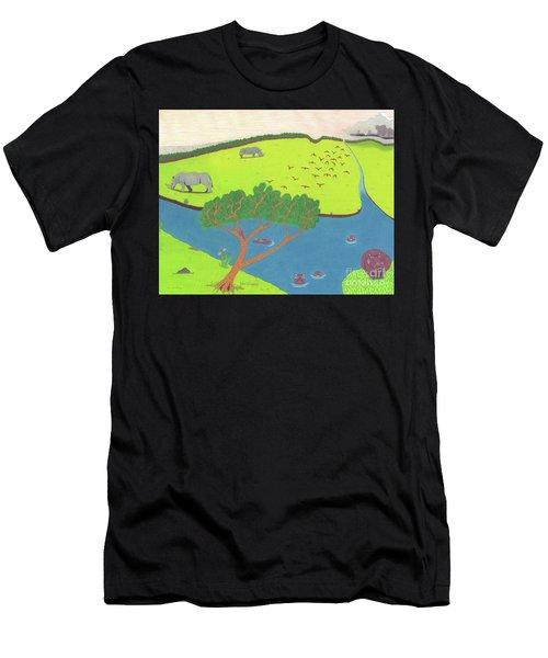 Hippo Awareness Men's T-Shirt (Athletic Fit)