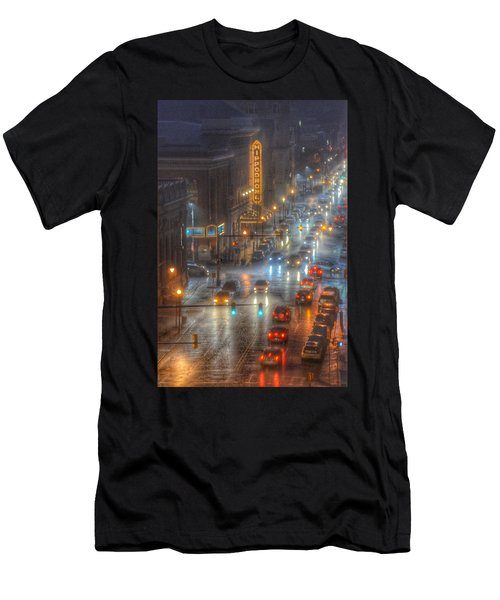 Men's T-Shirt (Athletic Fit) featuring the photograph Hippodrome Theatre - Baltimore by Marianna Mills