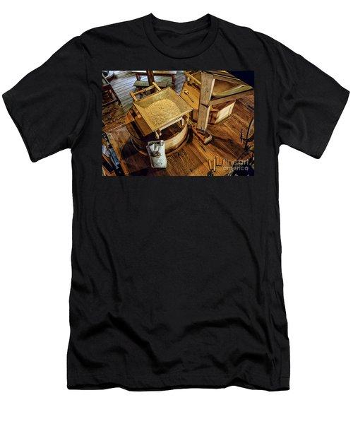Men's T-Shirt (Slim Fit) featuring the digital art Historic Bale Mill by Jason Abando