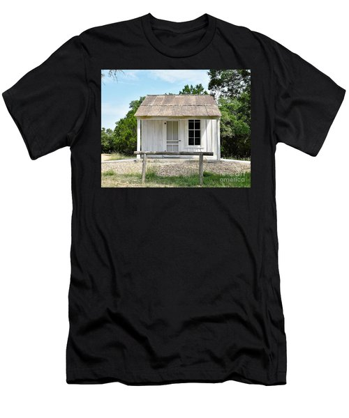 Men's T-Shirt (Slim Fit) featuring the photograph Historic Clint's Cabin by Ray Shrewsberry