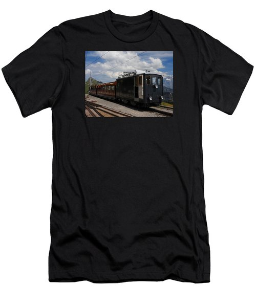 Historic Cogwheel Train  Men's T-Shirt (Athletic Fit)