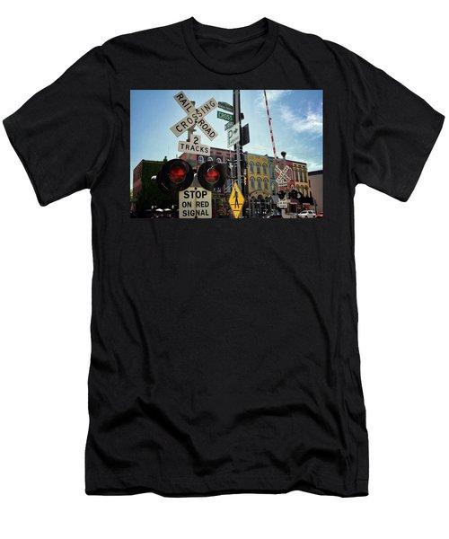 Historic Depot Town Ypsilanti Mi Men's T-Shirt (Athletic Fit)