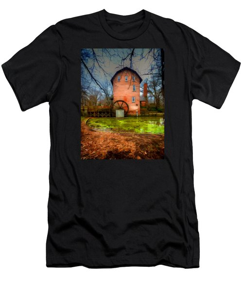 Historic Grist Mill In Hobart, In Men's T-Shirt (Athletic Fit)