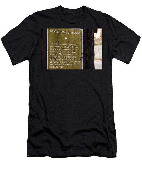Historic Marker For The Santuario Men's T-Shirt (Athletic Fit)