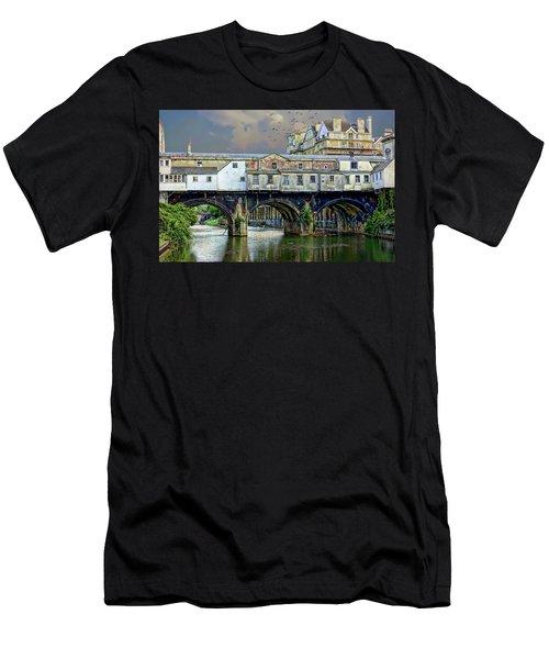Historic Pulteney Bridge Men's T-Shirt (Athletic Fit)