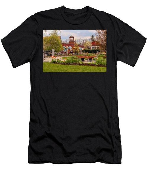 Historic Rail Station, Manhan Rail Trail Easthampton Men's T-Shirt (Athletic Fit)