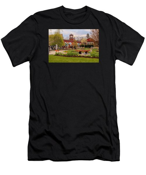 Historic Rail Station, Manhan Rail Trail Easthampton Men's T-Shirt (Athletic Fit)