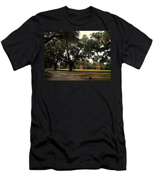 Historic Slave Houses At Boone Hall Plantation In Sc Men's T-Shirt (Athletic Fit)