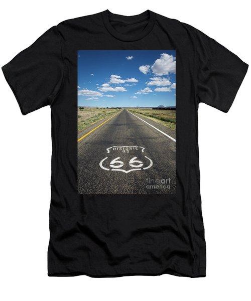 Historica Us Route 66 Arizona Men's T-Shirt (Athletic Fit)