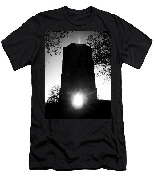 Historical Water Tower At Sunset Men's T-Shirt (Athletic Fit)