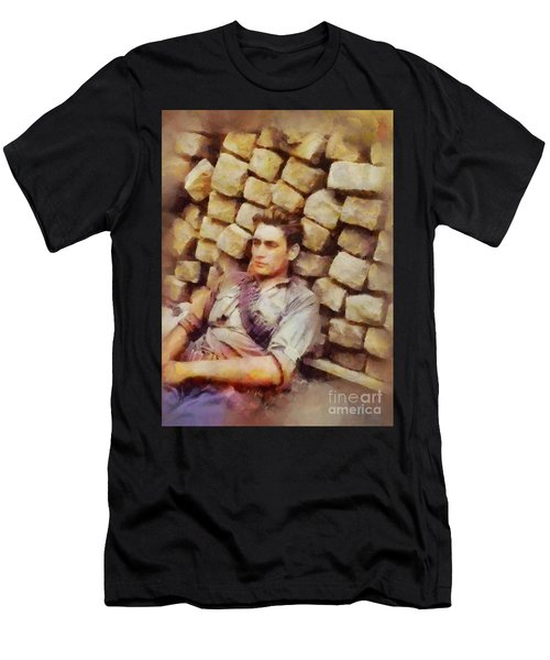 History In Color. French Resistance Fighter, Wwii Men's T-Shirt (Athletic Fit)