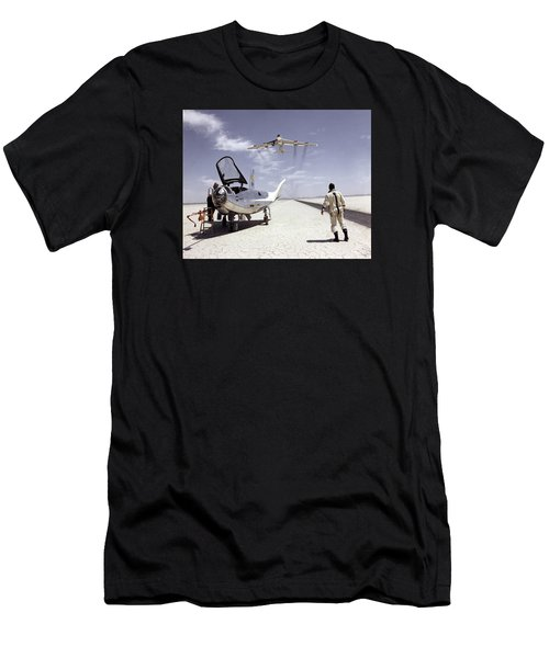 Hl-10 On Lakebed With B-52 Flyby Men's T-Shirt (Athletic Fit)