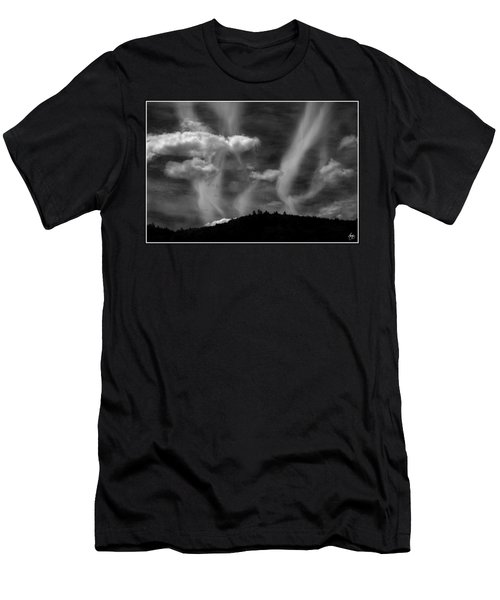 Men's T-Shirt (Athletic Fit) featuring the photograph Hobart Hill Monochrome by Wayne King