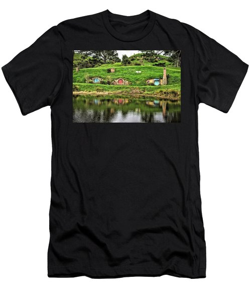 Hobbit By The Lake Men's T-Shirt (Athletic Fit)