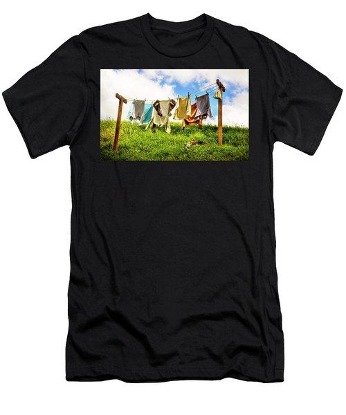 Hobbit Clothesline Men's T-Shirt (Athletic Fit)
