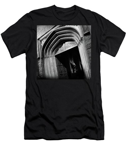 Men's T-Shirt (Slim Fit) featuring the mixed media Hogwards Door  by Gina Dsgn