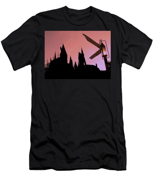 Men's T-Shirt (Slim Fit) featuring the photograph Hogwarts Castle by Juergen Weiss