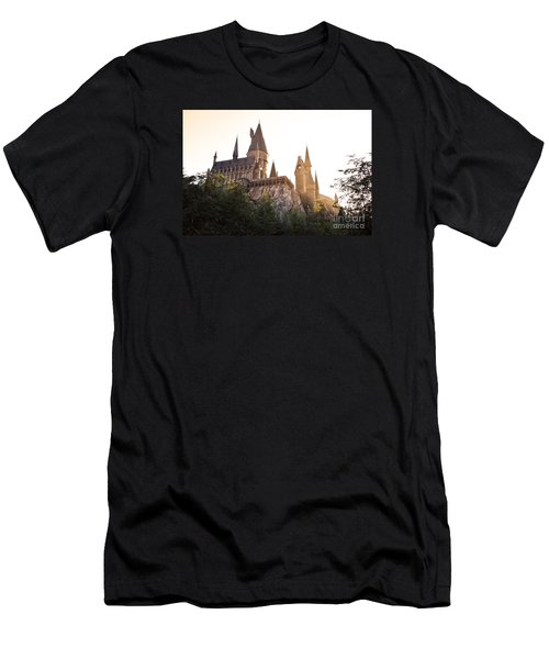 Men's T-Shirt (Slim Fit) featuring the photograph Hogwarts Dusk by Rebecca Parker