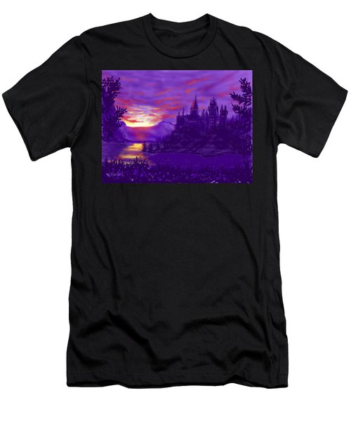 Hogwarts In Purple Men's T-Shirt (Athletic Fit)