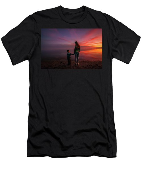 Hold My Hand Little Brother Men's T-Shirt (Slim Fit) by Ralph Vazquez