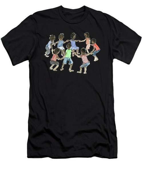 Children African Hold On Children Men's T-Shirt (Athletic Fit)